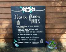 Wedding Dance Floor Rules Chalkboar d ...