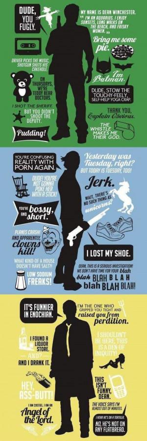 Funny Quotes Dean Supernatural