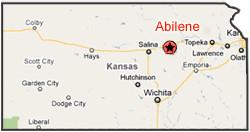 Abilene Kansas On Map