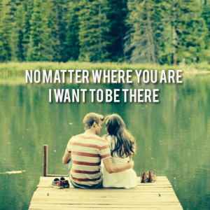 Love lake dock couple together quote