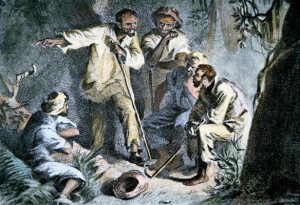 Nat Turner (1800-31) with fellow insurgent slaves during the Slave ...