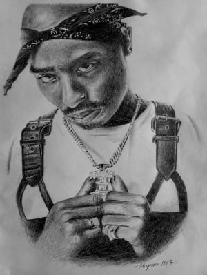 2pac Shakur Drawing Tupac shakur drawing by