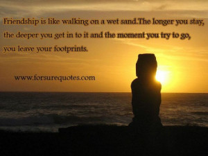 Quotes about you leave your footprints