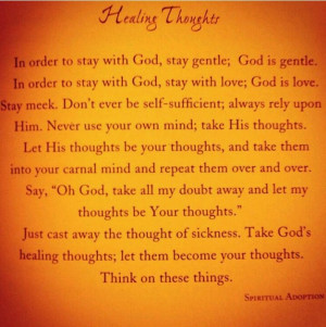 Healing thoughts...