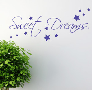 SWEET-DREAMS-WALL-STICKER-ART-DECALS-QUOTES-BEDROOM-W43