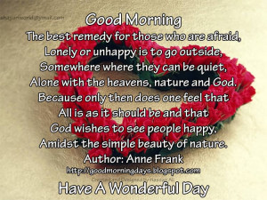 Good Morning Quotes for 13-05-2010