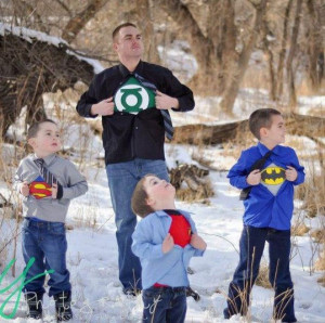Awesome superhero family photo shoot