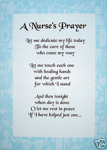 ... about A PERSONALISED POEM / PRAYER FOR A NURSE - A4 - LAMINATED GIFT