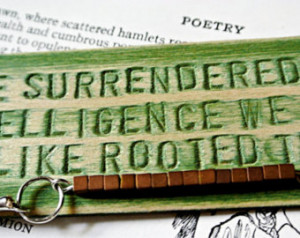 Wooden Bookmark - Rainer Maria Rilk e ...
