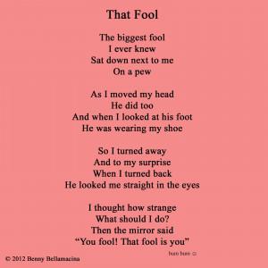 That fool poem Rhyming Poems