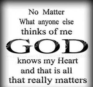 God know our hearts