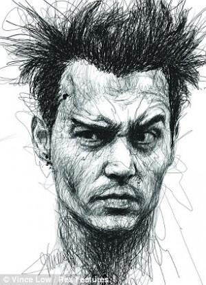 ... Artist scribbles portraits of famous dyslexics to highlight condition