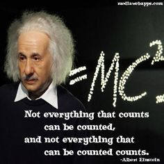 Not everything that counts can be counted, and not everything that ...