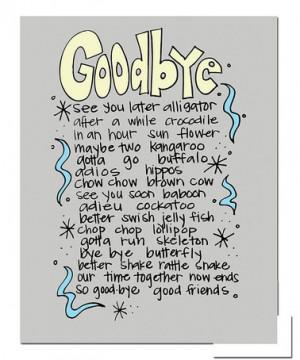 goodbye sayings