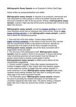 bibliographic essay sample as an example to works cited page