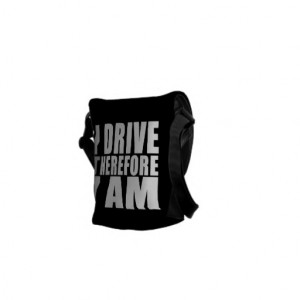 Funny Drivers Quotes Jokes I Drive Therefore I am Courier Bags