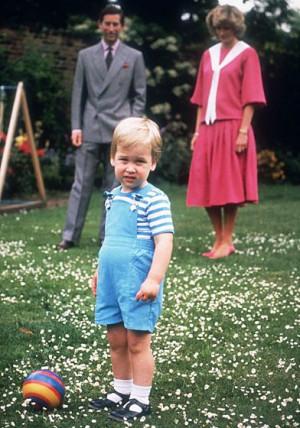 Prince William, Prince Charles and Princess Diana