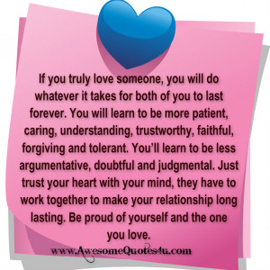 If you truly love someone, you will do whatever it takes for