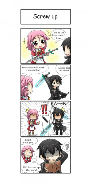 ... eyes pink_hair puffy_sleeves short_hair sword sword_art_online weapon