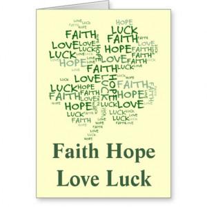 Four Leaf Clover Meaning: Hope, Faith, Love, Luck Greeting Card