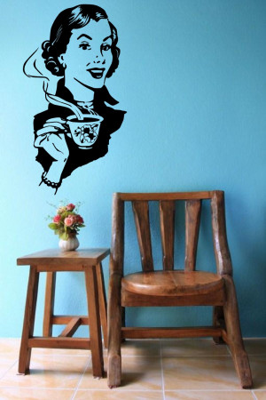 Pin Up Girls Quotes Pin up girl with coffee dec.