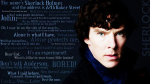 really into Sherlock right now These are some of my favorite quotes