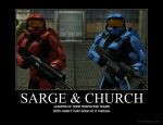 Sarge and Church by Crosknight