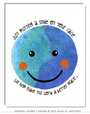 Stay Positive Quote Smiley Face Art For Children Anthropomorphic