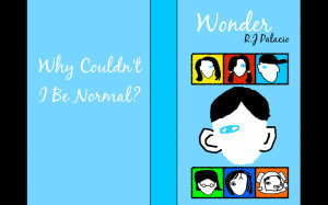 hi i ve just made two book covers for the book wonder all artwork is ...