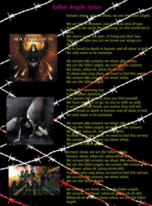 Fallen Angels by Black Veil Brides lyrics