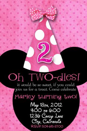 here: Home › Birthday Invitations › Minnie Mouse Custom Birthday ...