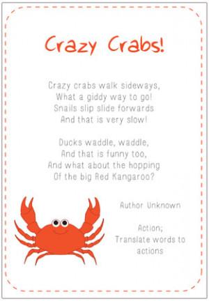 Crazy Crabs Poem   Free EYFS & KS1 Resources