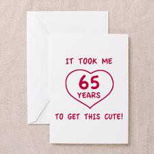 65Th Birthday Greeting Cards