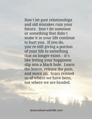 quotes about learning from mistakes and moving on and move on quotes