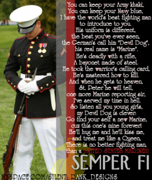 ... Marine Corps days…just ashe is. ♥ We believe in once a Marine