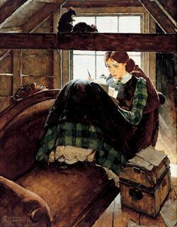 Jo March by Norman Rockwell