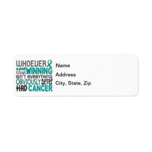 Whoever Said Ovarian Cancer Return Address Label