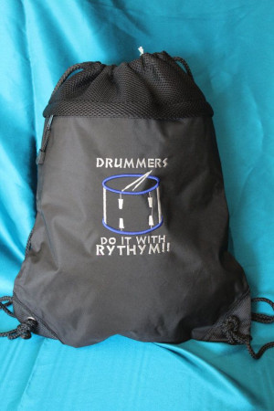 Drum Line Drawstring Bags with Cool Sayings by MissDiKreations, $20.00