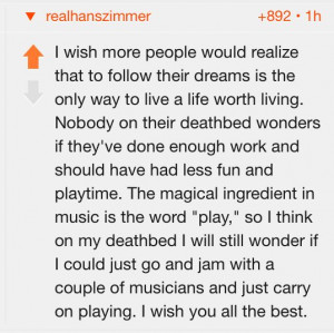 Few Words from Hans Zimmer