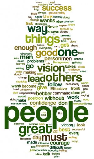 Leadership Quote Word Cloud