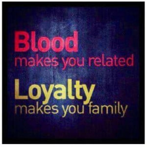 Not All Families Are Related By Blood