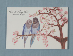 Love Birds & Love Poem card