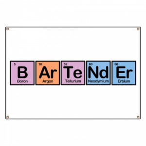 Funny Bartender Pictures Bartender made of elements