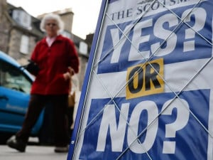 ... referendum on independence. (Photo: Andy Rain, European Pressphoto