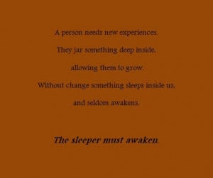 Quote, change, Dune, awaken