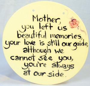 Mothers Memories' Plaque - Round