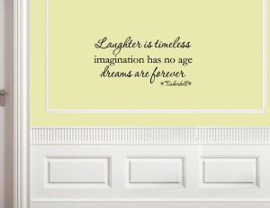 Laughter is timeless, Tinkerbell Vinyl wall decals quotes sayings ...