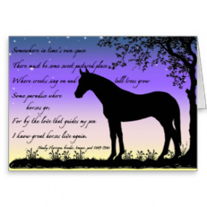 Horse Sympathy Card Thoroughbred Mare Silhouette