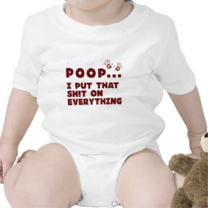 funny baby clothes sayings - baby poop joke shirt