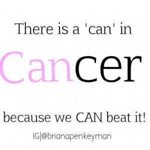 Can You Beat Cancer Quotes